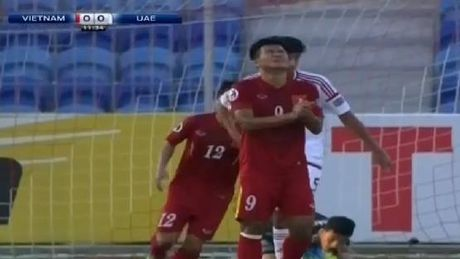 U19 VN vs U19 UAE (1-0, H1): Minh Di mo ty so - Anh 3