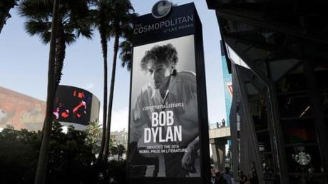 Bob Dylan khong noi nua loi den giai Nobel Van hoc tai man dien o Las Vegas - Anh 1