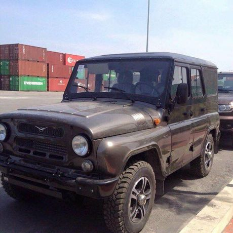 Can canh lo xe Nga UAZ sap ra mat Viet Nam tai cang Hai Phong - Anh 3