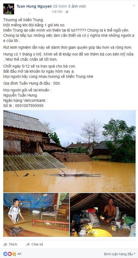 Sao Viet quyen gop hang tram trieu ung ho mien Trung lu lut - Anh 7