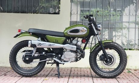 Tho Viet 'do' Honda Custom LA250 phong cach scrambler - Anh 1