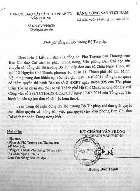 TP.HCM: Nguoi duoc thi hanh an gui don keu cuu vi bi de doa - Anh 1
