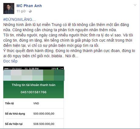 MC Phan Anh: 'Toi rot nuoc mat khi thay so tien ung ho den 8 ti dong' - Anh 2