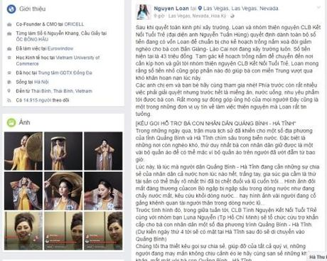 Ban thi Miss Grand, Nguyen Thi Loan van keu goi ung ho mien Trung - Anh 1