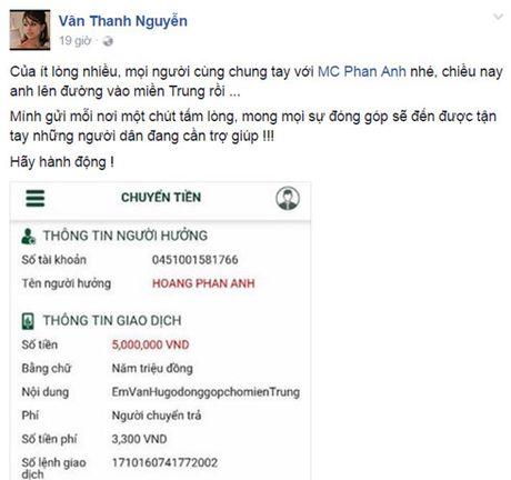 Nghe si Viet dong loat keu goi cong dong chung suc ung ho mien Trung - Anh 2
