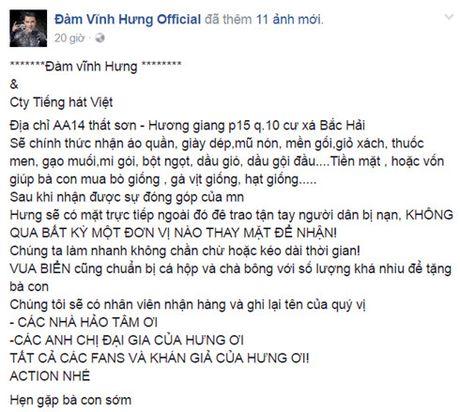 Nghe si Viet dong loat keu goi cong dong chung suc ung ho mien Trung - Anh 5