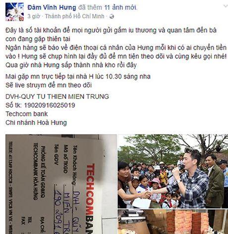 Truong Ngoc Anh, Dam Vinh Hung keu goi giup do dong bao mien Trung - Anh 1