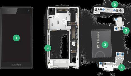 Fairphone 2: dien thoai module co the de dang sua chua, thay the linh kien, 10/10 diem iFixit, 575$ - Anh 1