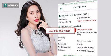 Thuy Tien cong khai so tien 'khung' ung ho dong bao mien Trung - Anh 1
