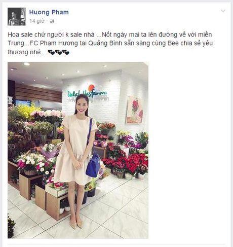 Hoa hau Viet dong long huong ve mien Trung bao lu - Anh 3