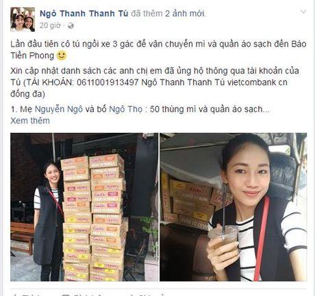 Hoa hau Viet dong long huong ve mien Trung bao lu - Anh 7