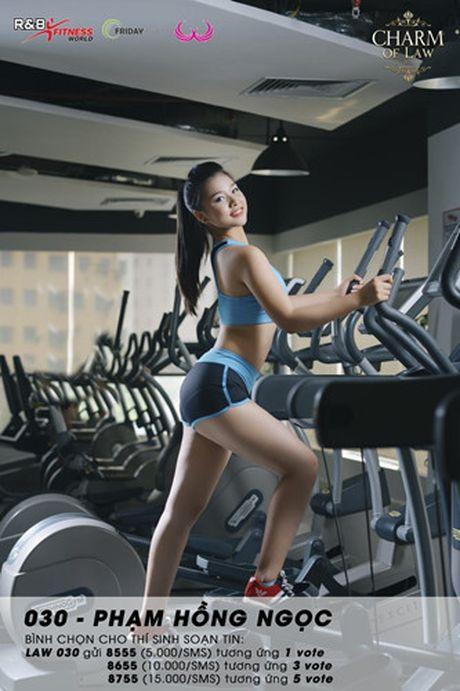 Top 20 nu sinh truong Luat nong bong trong trang phuc gym - Anh 10