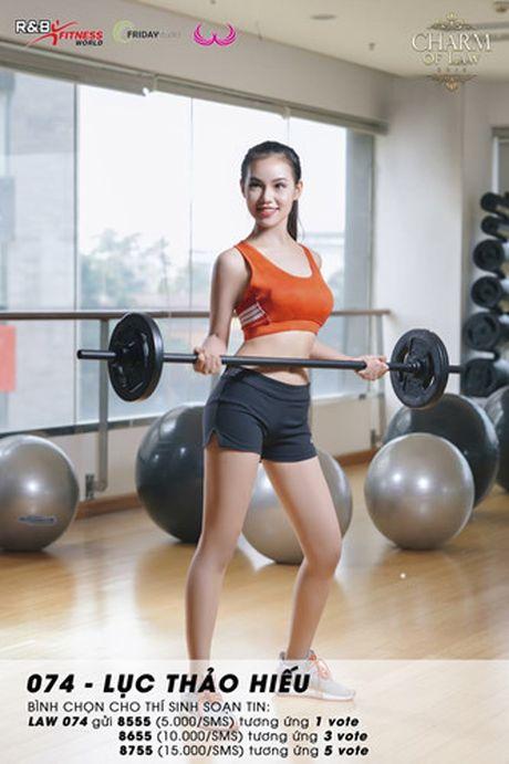 Top 20 nu sinh truong Luat nong bong trong trang phuc gym - Anh 13