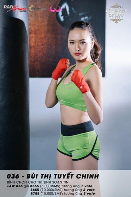 Top 20 nu sinh truong Luat nong bong trong trang phuc gym - Anh 14