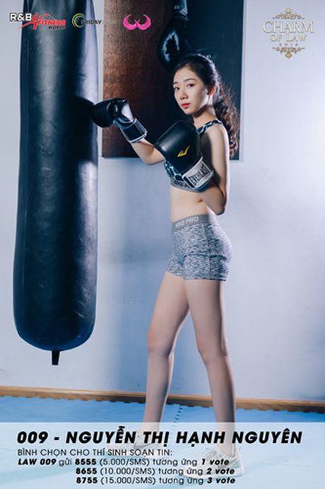 Top 20 nu sinh truong Luat nong bong trong trang phuc gym - Anh 16
