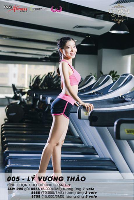 Top 20 nu sinh truong Luat nong bong trong trang phuc gym - Anh 17