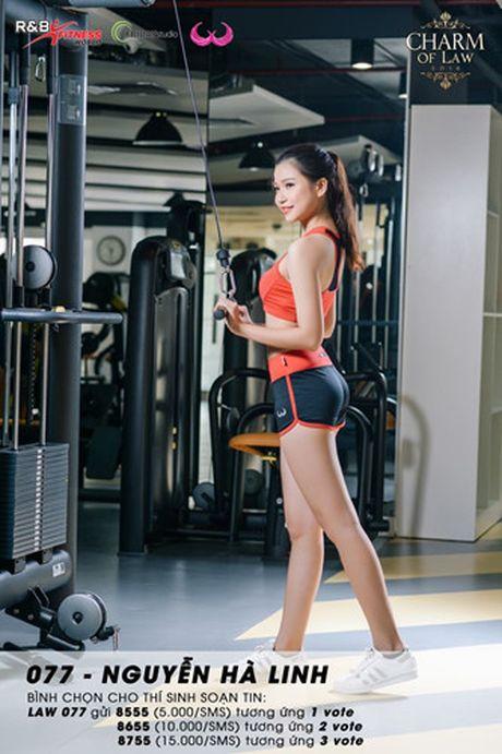 Top 20 nu sinh truong Luat nong bong trong trang phuc gym - Anh 1