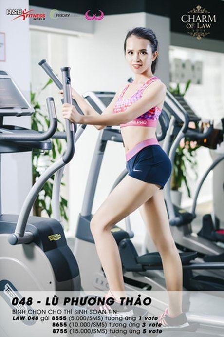 Top 20 nu sinh truong Luat nong bong trong trang phuc gym - Anh 20