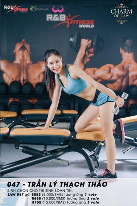Top 20 nu sinh truong Luat nong bong trong trang phuc gym - Anh 5