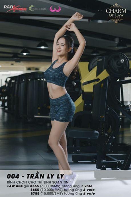 Top 20 nu sinh truong Luat nong bong trong trang phuc gym - Anh 8