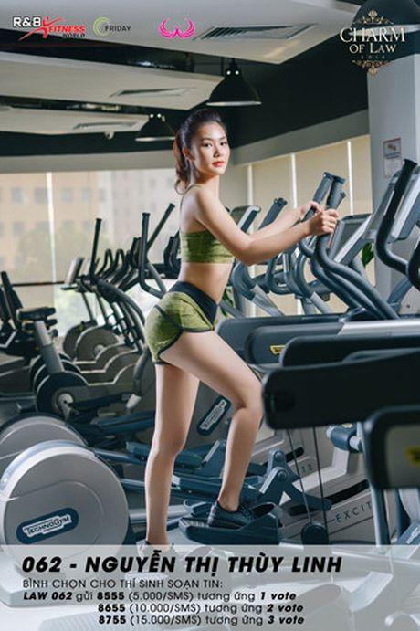 Top 20 nu sinh truong Luat nong bong trong trang phuc gym - Anh 9