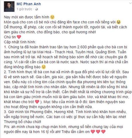 Tien ung ho mien Trung trong tai khoan Phan Anh da len den 16 ty - Anh 1