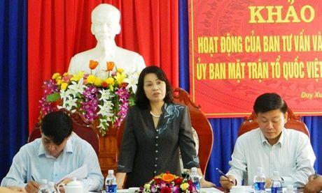 Khảo sát hoạt động của Mặt trận các cấp tại huyện Duy Xuyên