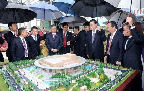 Ủy viên trưởng Nhân đại Trung Quốc thăm dự án Cung hữu nghị Việt-Trung