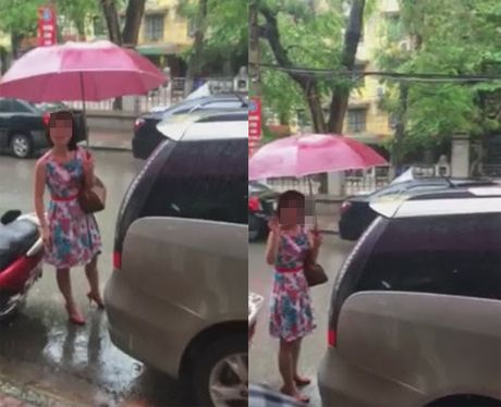 """Nguoi phu nu do o to sai truoc cua hang con thach thuc """"Nha may co mua duong khong?"""" - Anh 2"""