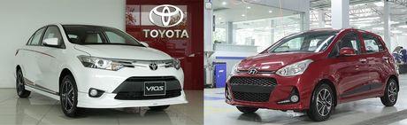 Toyota Vios hay Hyundai Grand i10 la mau xe ban chay nhat? - Anh 1